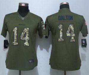 women-new-nike-cincinnati-bengals-14-dalton-green-salute-to-service-limited-jersey