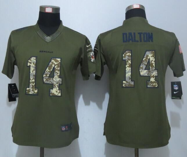 women-new-nike-cincinnati-bengals-14-dalton-green-salute-to-service-limited-jersey