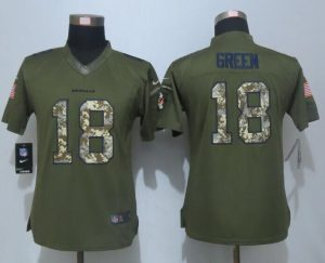 women-new-nike-cincinnati-bengals-18-green-green-salute-to-service-limited-jersey