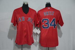 womens-2017-mlb-boston-red-sox-34-ortiz-red-jerseys