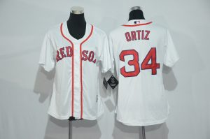 womens-2017-mlb-boston-red-sox-34-ortiz-white-jerseys