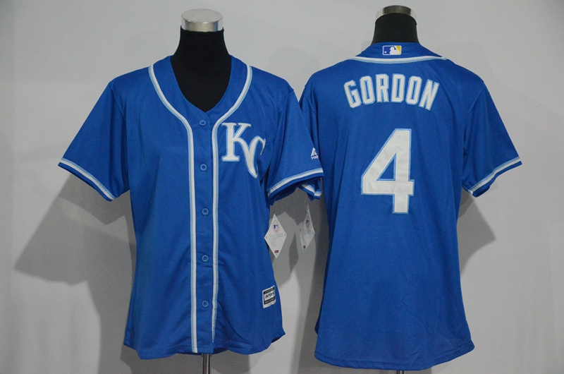 womens-2017-mlb-kansas-city-royals-4-gordon-blue-jerseys