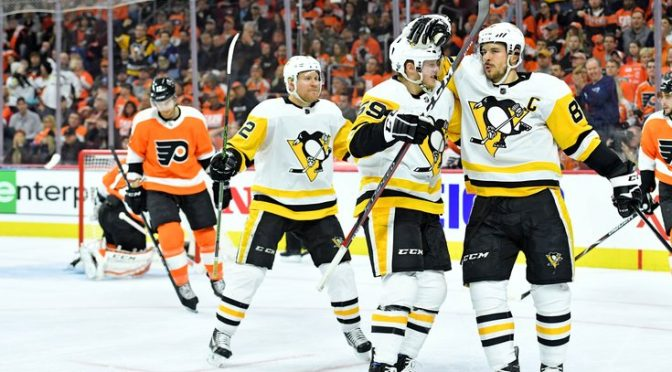 Penguins plow past Flyers in 5-1 laugher to reclaim home-ice advantage